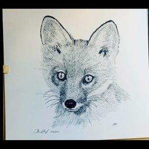 10x10 Pen & Ink unframed print by Martin May